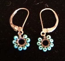 Dana Kellin Earrings w/ Sterling wire wrap and Turquoise beads