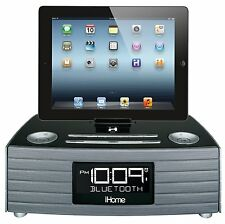iHome IBN97 NFC USB FM Radio Bluetooth Wireless Speakerphone Alarm Clock iPhone