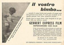 W2974 Gevaert Express Film - Il Vostro bimbo... - Pubblicità del 1932 - Old ad
