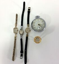 Vintage Watch Lot Ruhlo Johnson Munroe Timex Keyes Sold AS IS for Parts Repair