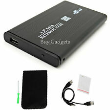 BLACK 2.5 SATA to USB HARD DRIVE CADDY HDD CASE ENCLOSURE