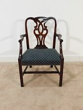 Baker Furniture Mahogany Museum Pretzel Back Chippendale Armchair (12 available)