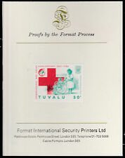 Tuvalu (1585) - 1988 RED CROSS 50c  imperf on Format International PROOF  CARD
