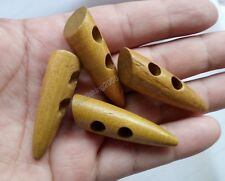 10X brown color wooden 2Holes Toggle Sewing Buttons