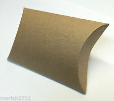 50 VINTAGE /SHABBY CHIC/ KRAFT PILLOW WEDDING FAVOUR BOXES