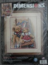 """Dimensions """"Teddies on Quilt""""  Counted cross stitch kit, 12"""" x 14"""""""