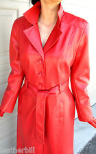 LONG SHINY RED PVC VINYL TRENCH COAT from WAREHOUSE  US6/UK10