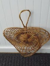 Wicker Weave Hand Fan Paddle Decor Wall Crafts Home Decor Floral