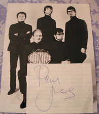 PAUL JONES  Origional Signed Lined Paper.