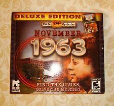 Hidden Mysteries: November 1963 (PC, 2012) John F. Kennedy White House Game