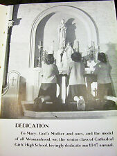 1947 CATHEDRAL GIRLS' HIGH SCHOOL Year Book San Diego California FREE SHIPPING!