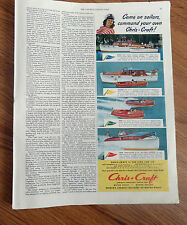 1949 Chris Craft Boats Ad Cruisers, Sportsman & DeLuxe Express