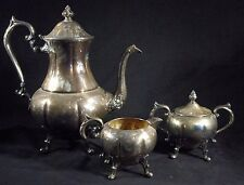 Antique 4 - Piece Sheridan Silver Tea & Coffee Service Set - Silver on Copper