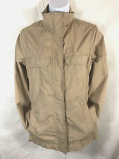 Lands End Canvas Womens Safari Style Cotton Full Zip LIned Jacket Size XS Tan