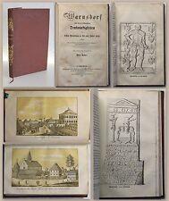 Palme: Warnsdorf - historischen Denkwürdigkeiten EA 1852 Nordböhmen Ortskunde xz