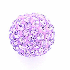 10 Voilet Rhinestone clay pave 12mm beads for Shamballa Bracelets