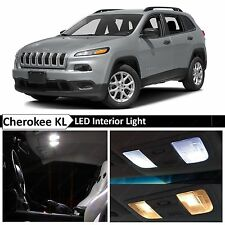 15x White LED Interior Lights Package Kit for 2014-2015 Jeep Cherokee KL + TOOL