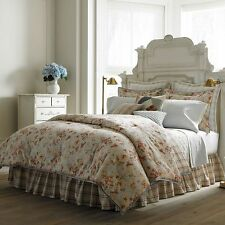 4pc CHAPS Springs CAL KING Comforter Bedding Set REVERSIBLE Floral Plaid NWT