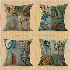 US SELLER-set of 4 cushion covers ocean underwater animal fish dolphin throw