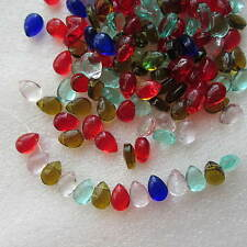 200 Glass Tear Drop Beads Size 10 x 8mm Diagonal Hole - Jewelery Crafts Making