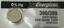 ENERGIZER 390/389 SR1130SW WATCH BATTERIES E390 389 NEW SEALED Authorize Seller