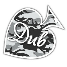 DUB STICKER urban camo grey ace of spades new design euro style