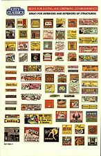 City Classics-HO Scale -- #501-01 – Restaurant Signs