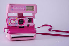 "03 F/S ""Excellent"" Polaroid camera Hello Kitty Model Pink Sanrio  from JAPAN"