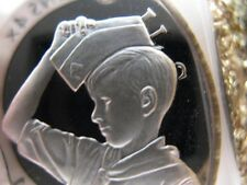 7/8-OZ STERLING SILVER COIN COURTEOUS SPIRIT OF BOY SCOUTS OF AMERICA +GOLD -