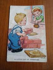 CUTE Vintage Tuck's Post Card (Raphael Tuck & Sons Ltd) Artist Dinah