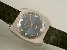 BULOVA VINTAGE GENTS SEA KING WHALE HAND WIND CIRCA 1969 REAR BLUE DIAL