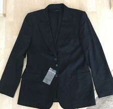 Authentic NWOT Men's Gucci Black Suit Jacket, Double Button, Size 48.