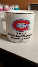 NHL STANLEY CUP CRAZY MINI MUG MONTREAL CANADIENS 1977 CHAMPS W/OPPONENT &SCORE