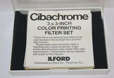 Ilford Cibachrome  3x3 Inch Filter Set