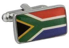 Republic of South Africa Flag Cufflinks Wedding Groom Father Gift Box Free Ship