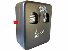 Ash Bin Wall Mounted Steel Cigarette Ashtray Box Tray Ash Bins / Home office Pub