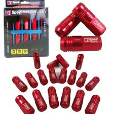 NEW M12 X1.5MM 20PCS D1-SPEC RED JDM WHEEL LUG NUTS FOR HONDA CIVIC INTEGRA
