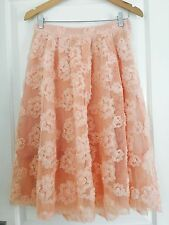 H AND M WOMENS DESIGNER FLORAL LINED SKIRT SZ 10