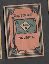 Ancienne  étiquette   allumettes  Suède  MM178 Drapeau Nouméa