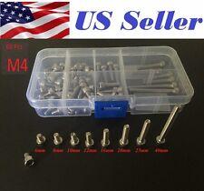 60 Pcs M4 6-40mm Stainless Steel Internal Hex Socket Cylinder Head Cap Screw kit