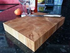 Solid Oak, End Grain Chopping/ Serving/ Bread/  Board, Deluxe,12m Warranty, wood