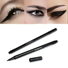 New Super Thin Waterproof Liquid Eyeliner Eye Liner Brow Pen Makeup Extra Black