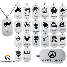 Overwatch Dogtag Pendant All Heroes Anhänger Halskette McRee Mercy Roadhog