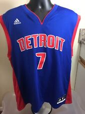 Adidas NBA Detroit Pistons Brandon Jennings Jersey. Size Large. Number 7, #7