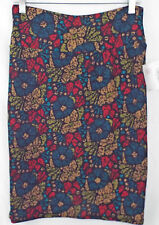 LuLaRoe Cassie Skirt MEDIUM in Multi Color Abstract Floral    NWT