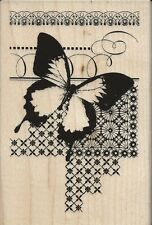 """Butterfly Pattern"" Rubber Stamp by Stampendous"