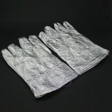 High Temperature Heat Resistant Aluminised Finger Gloves Fireproof Oven Gloves