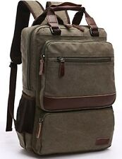 Leaper Retro Vintage Laptop Backpack College School Casual Daypack Shoulder