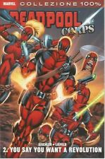 fumetto 100% MARVEL PANINI DEADPOOL CORPS NUMERO 2 YOU SAY YOU WANT A REVOLUTION
