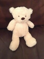 """Marks and Spencer my 1st Cream bear 11"""" teddy baby comforter soft cuddly toy M&S"""